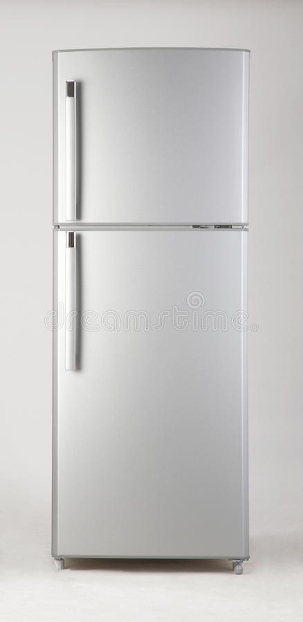 Freezer. Clipping path of freezer on the plain background royalty free stock images