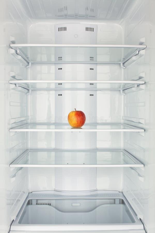 Freezer chamber open apple royalty free stock photo