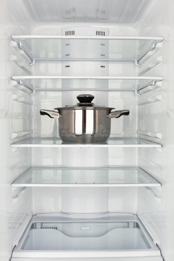 Freezer chamber open pot stock photos