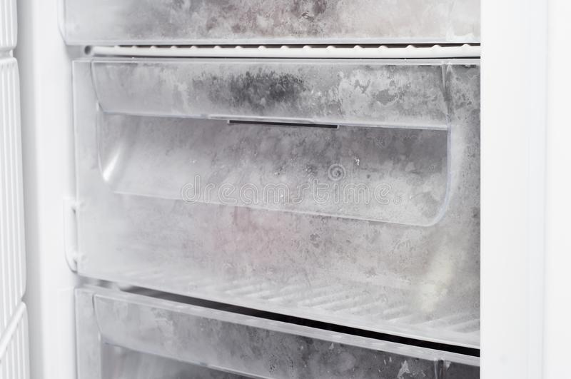 The freezer with an empty box works in single.  royalty free stock images