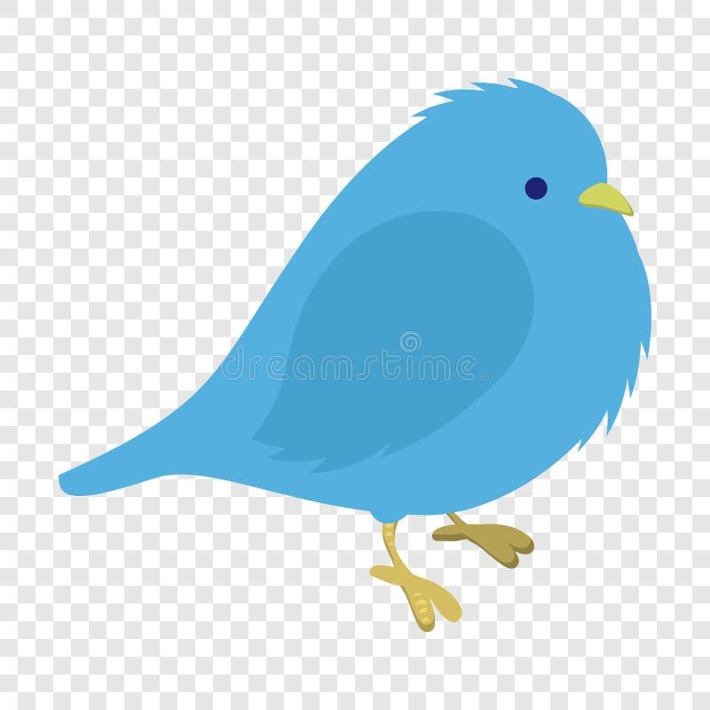 Freezing blue bird illustration. Single cartoon illustration on transparent background vector illustration