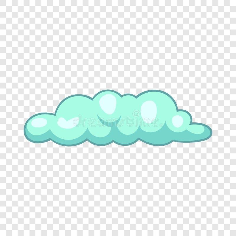 Freezing cloud icon, cartoon style. Freezing cloud icon. Cartoon illustration of freezing cloud vector icon for web design stock illustration