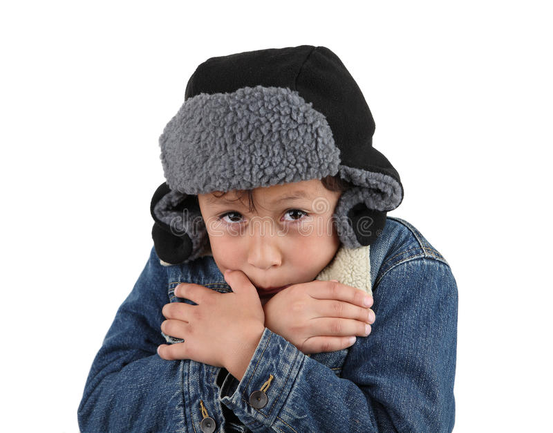Download Freezing Cold Young Boy Stock Photos - Image: 22152963