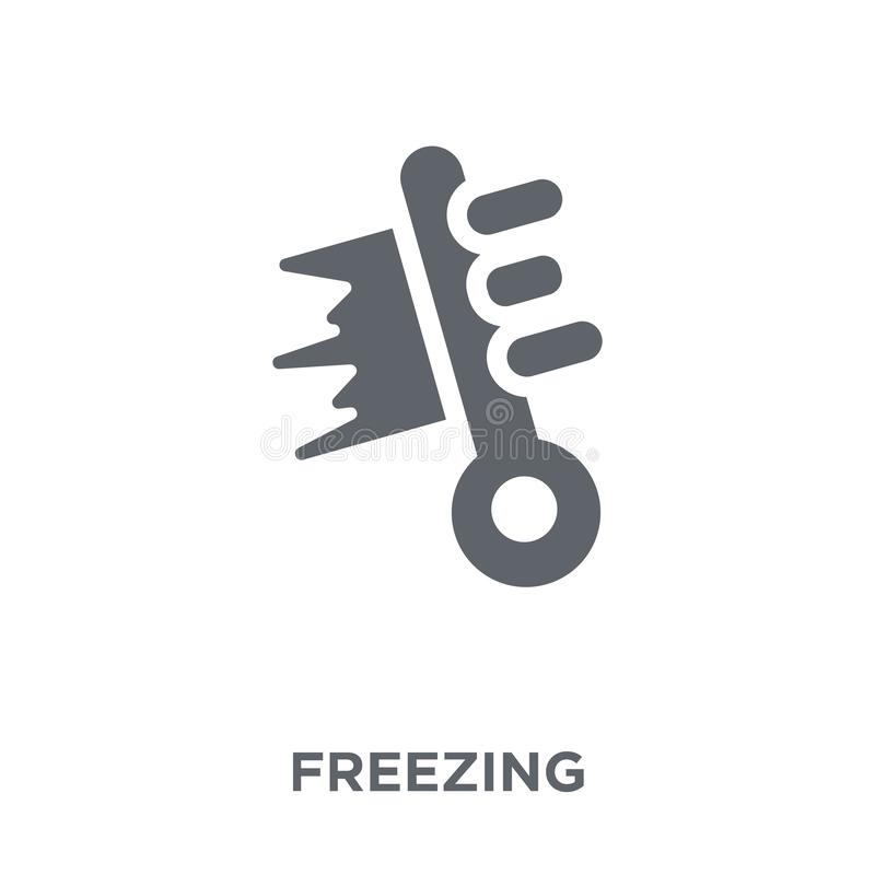Freezing icon from Weather collection. Freezing icon. Freezing design concept from Weather collection. Simple element vector illustration on white background royalty free illustration