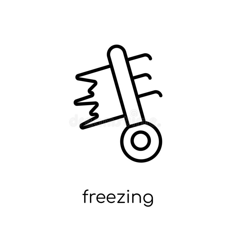 Freezing icon from Weather collection. Freezing icon. Trendy modern flat linear vector freezing icon on white background from thin line Weather collection vector illustration