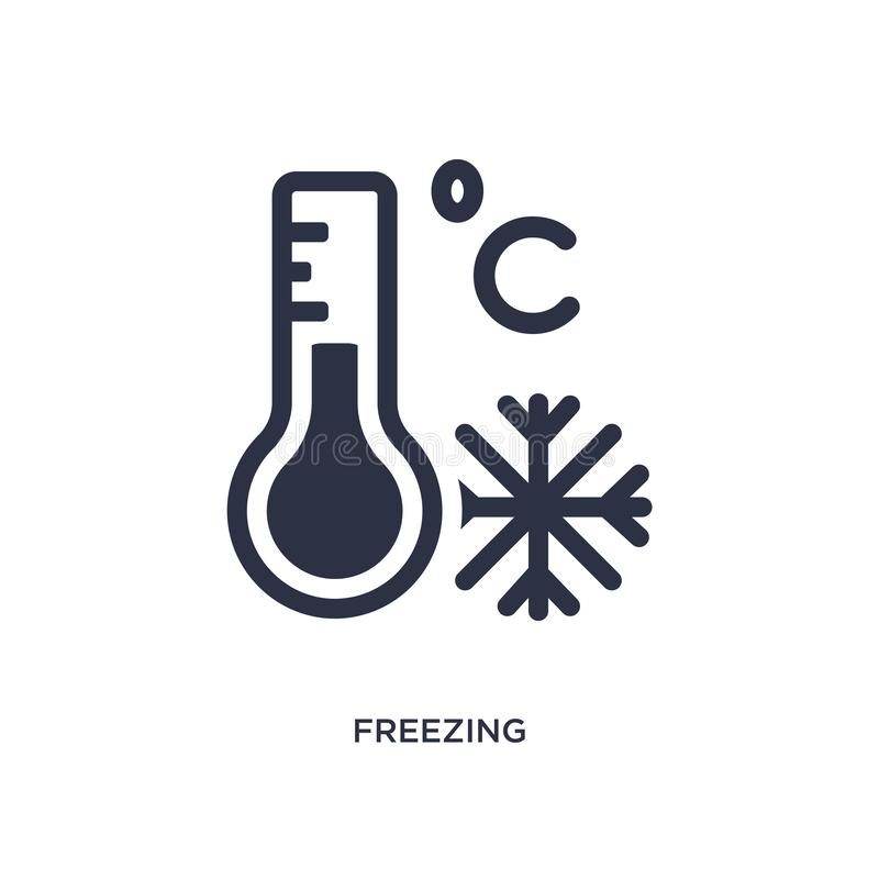 freezing icon on white background. Simple element illustration from weather concept vector illustration