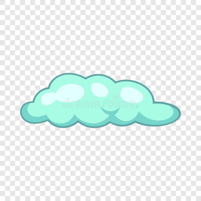 Freezing rain cloud icon, cartoon style. Freezing rain cloud icon. Cartoon illustration of freezing rain cloud vector icon for web design stock illustration
