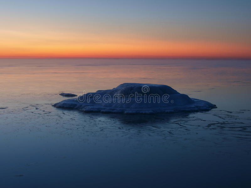 Download Freezing Sea Shore In The Romantic Evening Light Royalty Free Stock Photo - Image: 13212775
