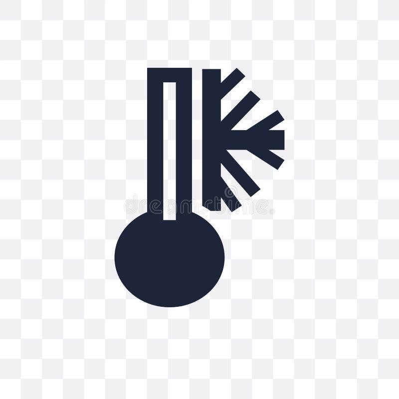 Freezing transparent icon. Freezing symbol design from Weather c. Ollection. Simple element vector illustration on transparent background vector illustration