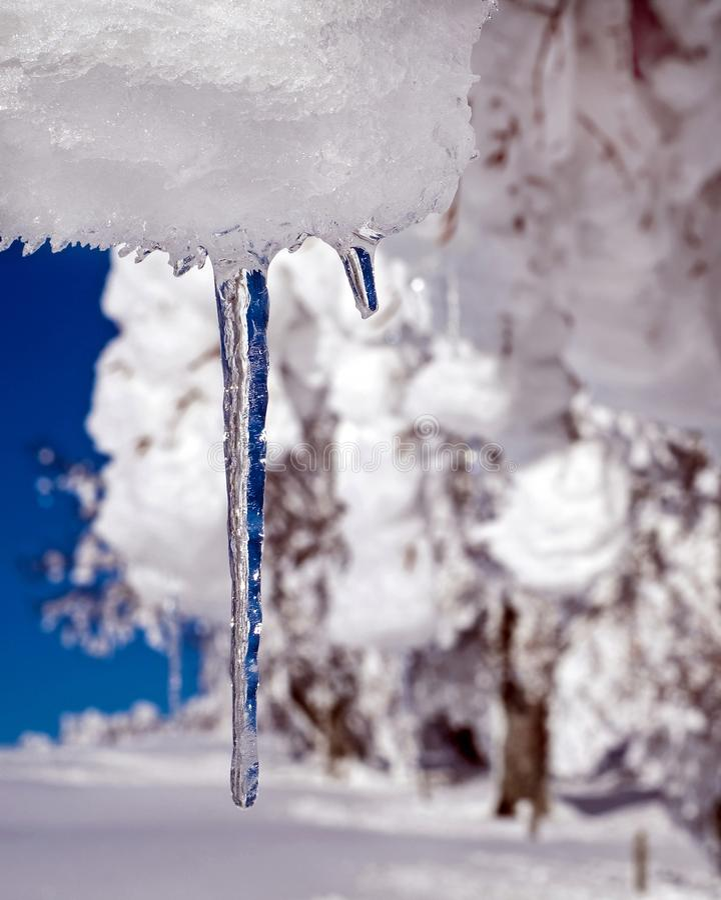 Freezing, Winter, Water, Snow stock image