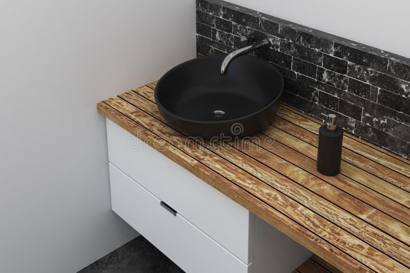 Fregadero en cuarto de baño contemporáneo ilustración del vector