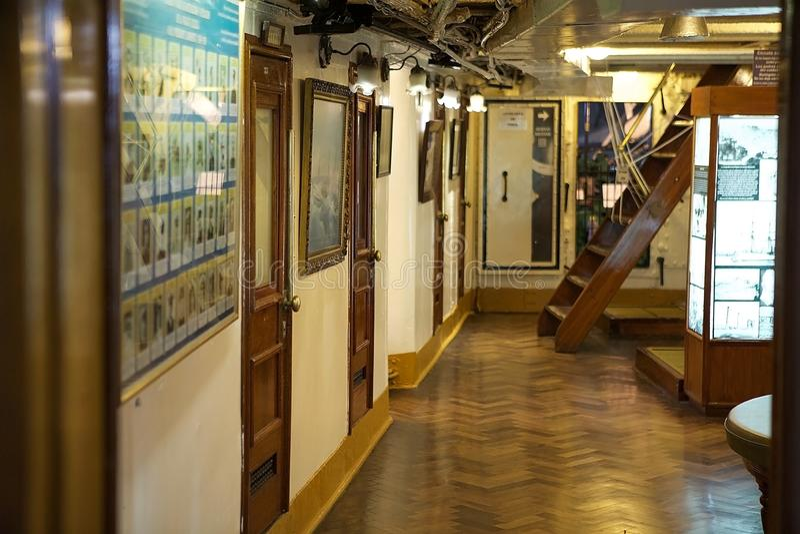 Fregat ARA Presidente Sarmiento in Puerto Madero, Buenos aires, Argentinië royalty-vrije stock fotografie
