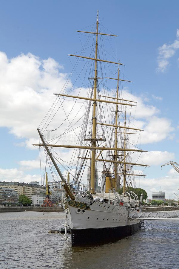 Fregat ARA Presidente Sarmiento in Puerto Madero, Buenos aires, Argentinië royalty-vrije stock afbeeldingen
