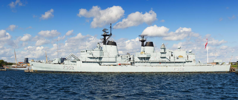 Fregat van Koninklijke Deense Marine stock fotografie