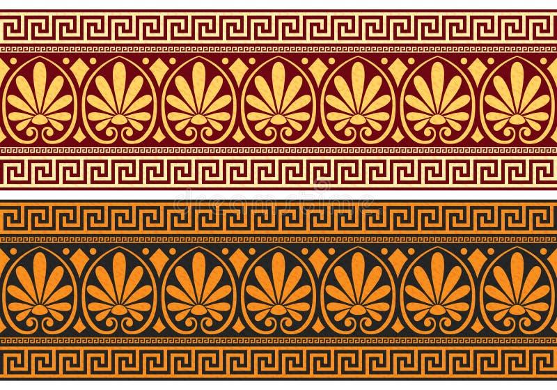 Fregio di vettore con l'ornamento greco (meandro) royalty illustrazione gratis