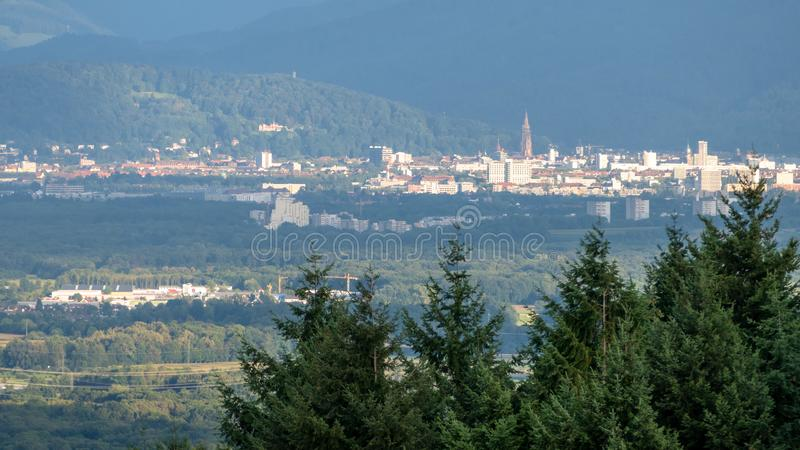 Freiburg Germany in the distance. An image of Freiburg Germany in the distance royalty free stock images