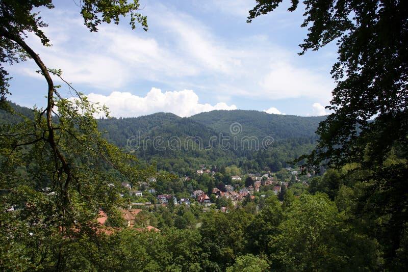 Freiburg-im-Breisgau, distrito de Guenterstal imágenes de archivo libres de regalías