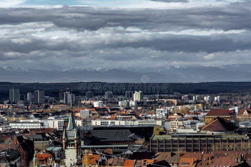 Skyline of Freiburg in Germany royalty free stock image