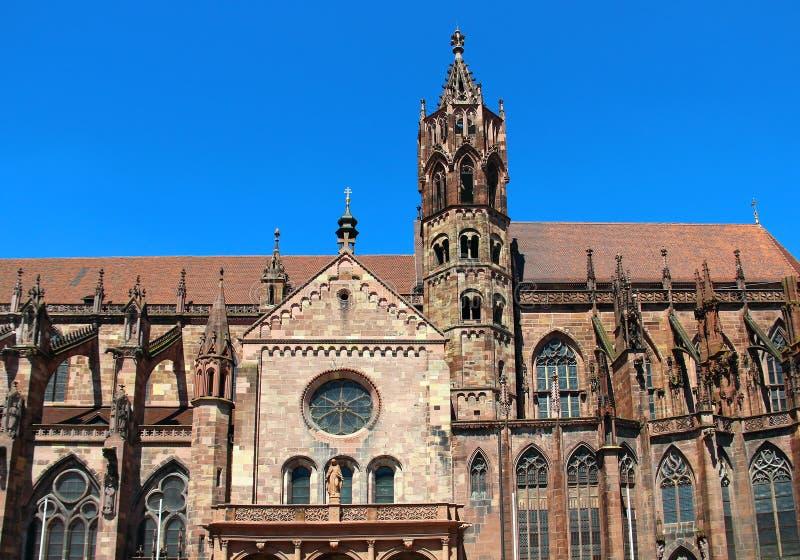 Freiburger Munster, Duitsland royalty-vrije stock afbeelding
