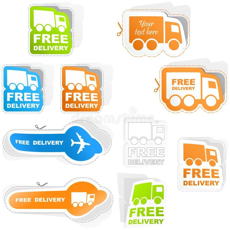 Freie Anlieferung. lizenzfreie abbildung
