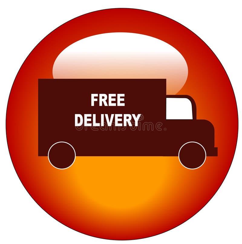Freie Anlieferungsweb-Taste lizenzfreie abbildung