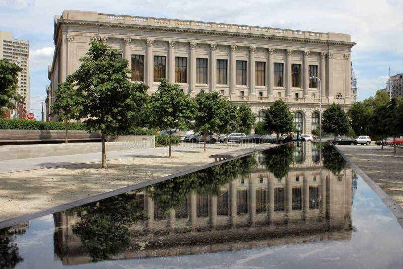 Freie Bibliothek von Philadelphia-Äußerem stockfoto