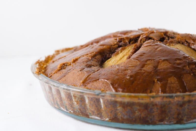 Freie Birnentorte des ganzen selbst gemachten Glutens lizenzfreies stockfoto