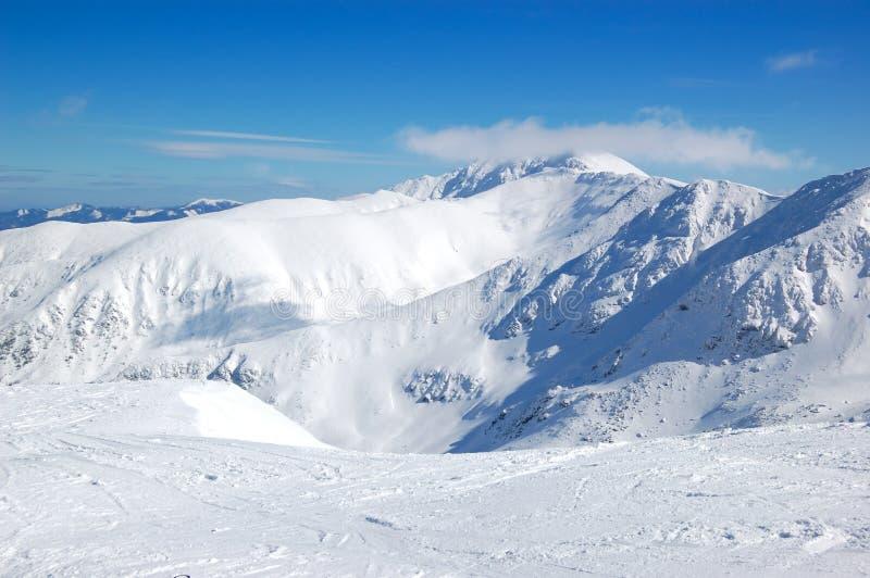 Freie Fahrbereich auf Chopok im Jasna Skiort lizenzfreies stockfoto