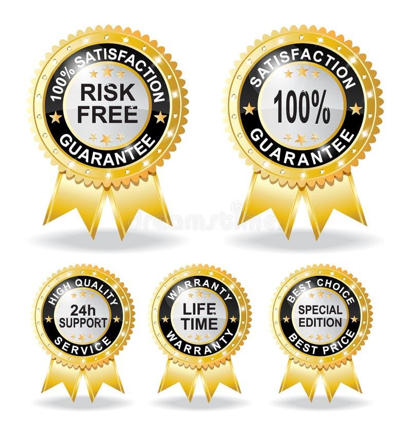 Freie Gewährleistungsgarantie des Risikos lizenzfreie abbildung