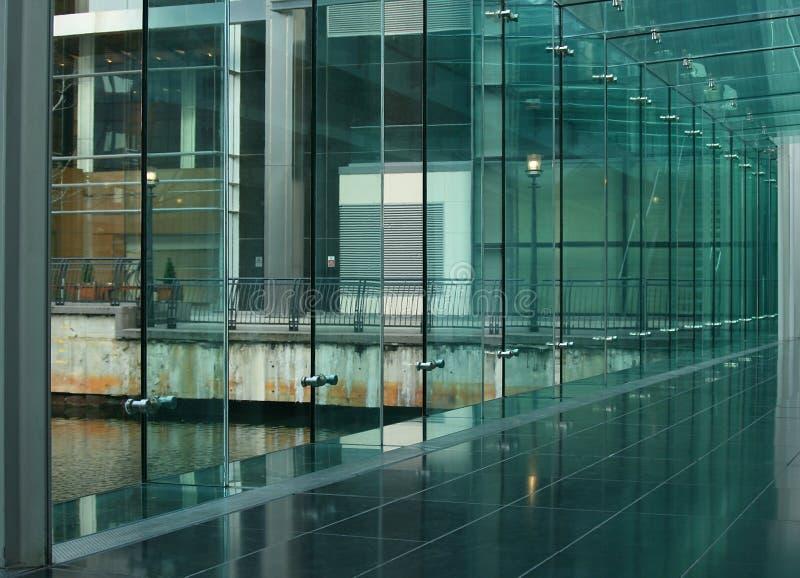 Freie Glaswand stockfotos