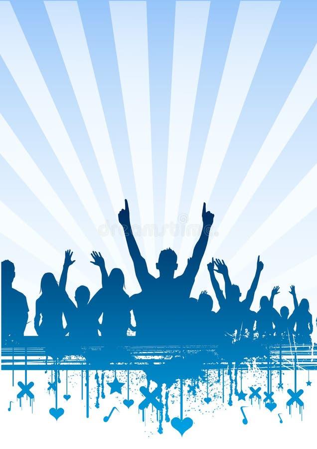 Freie Himmel-Party-Masse stock abbildung