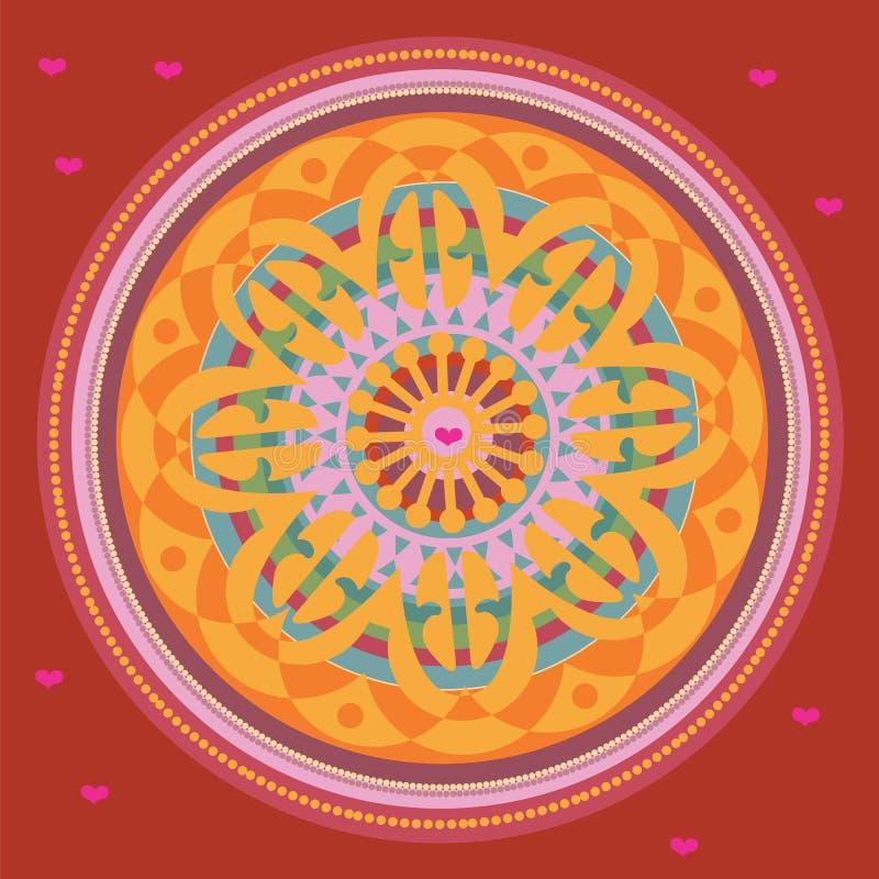 Freie Inner-Mandala. Abbildung vektor abbildung