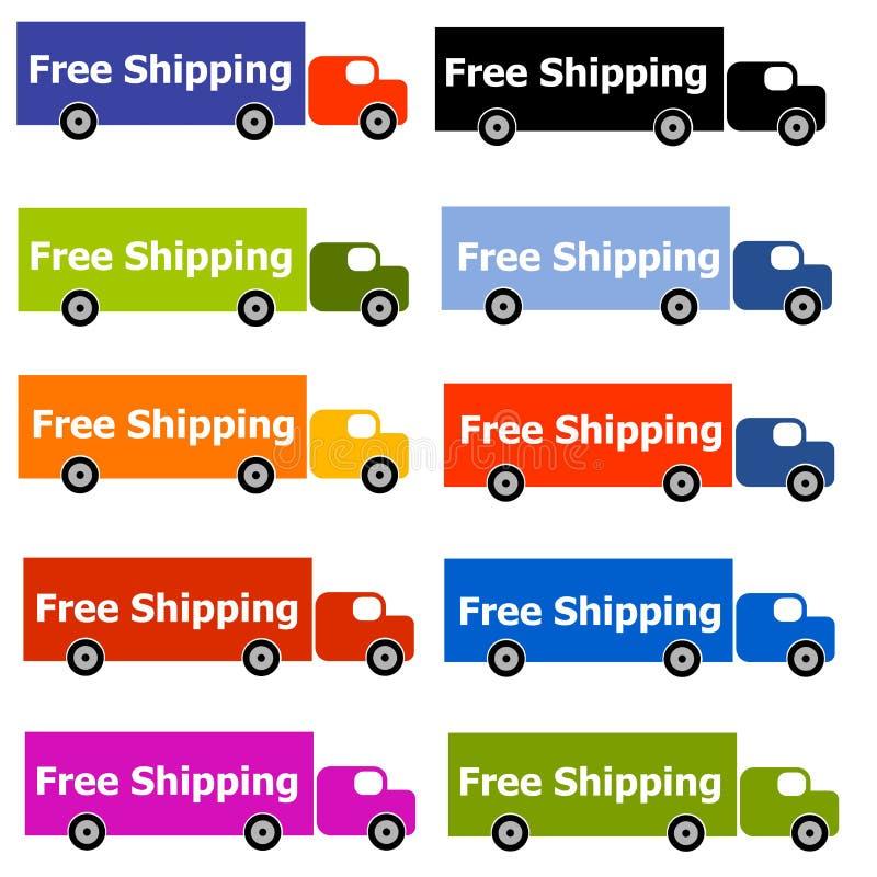 Freie Verschiffen-LKW-Zeichen stock abbildung