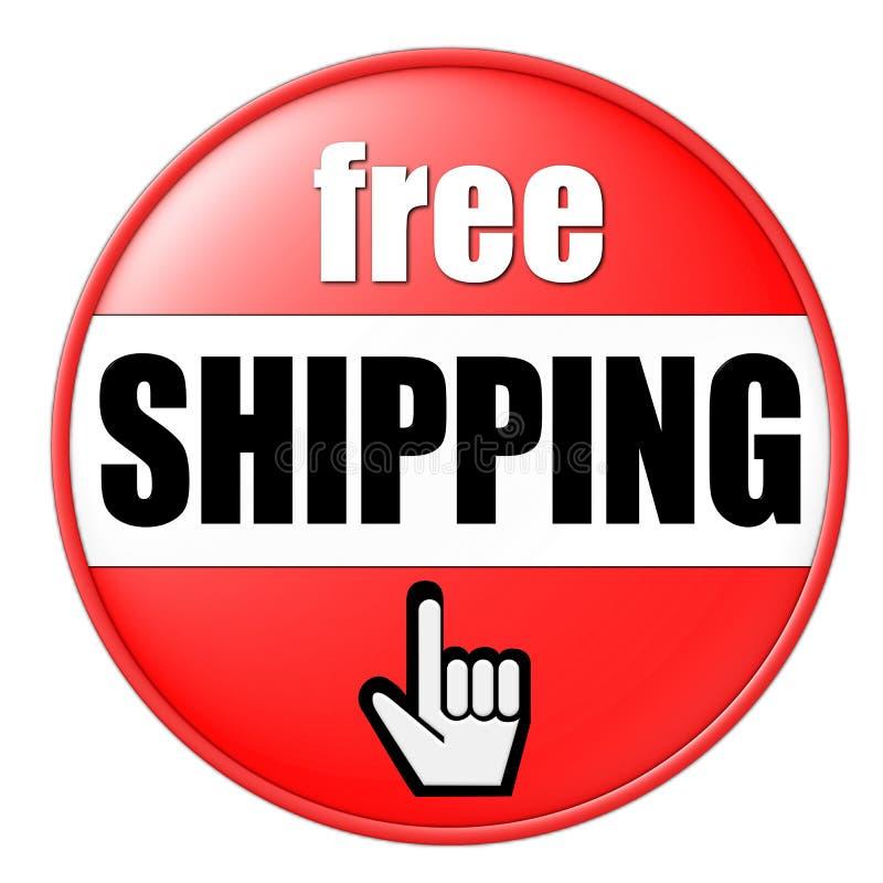 Freie Verschiffen-Taste stock abbildung