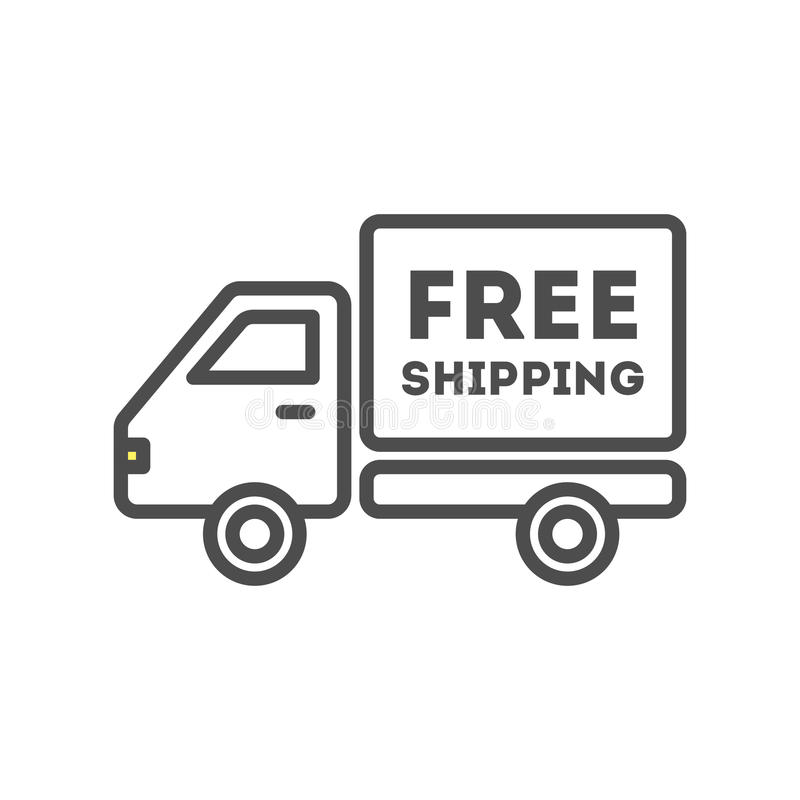 Freie Verschiffenikone lizenzfreie abbildung