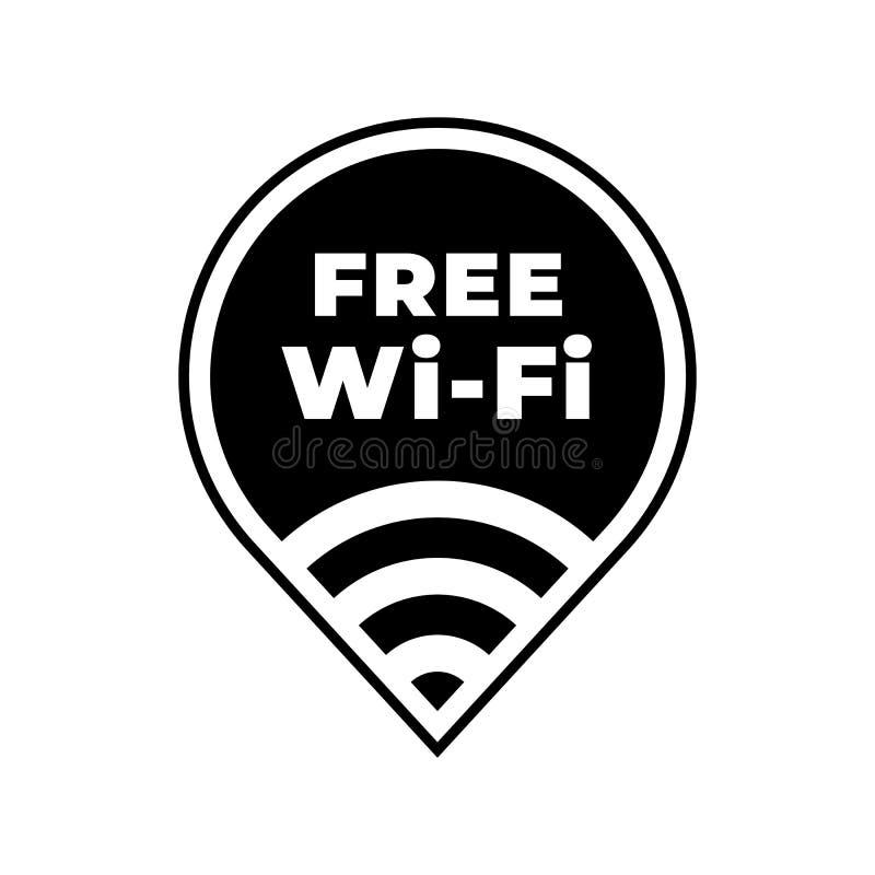 Freie wifi Zonen-Vektorikone Allgemeiner freier wlan Krisenherd Wi-Fi vektor abbildung