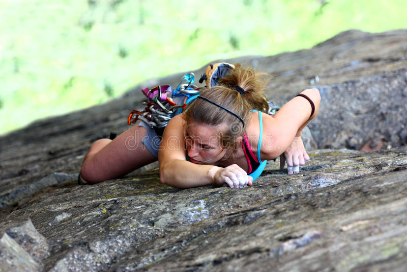 Freier Bergsteiger lizenzfreies stockfoto