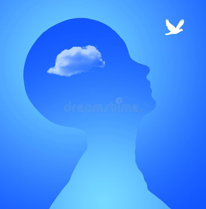 Freier Denker lizenzfreie abbildung