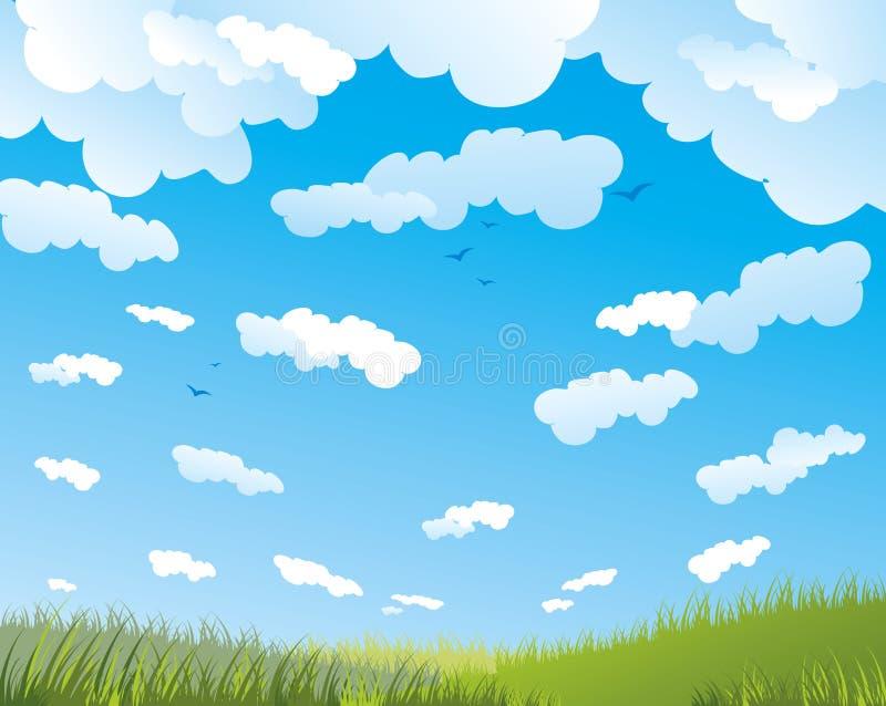 Freier Himmel lizenzfreie abbildung
