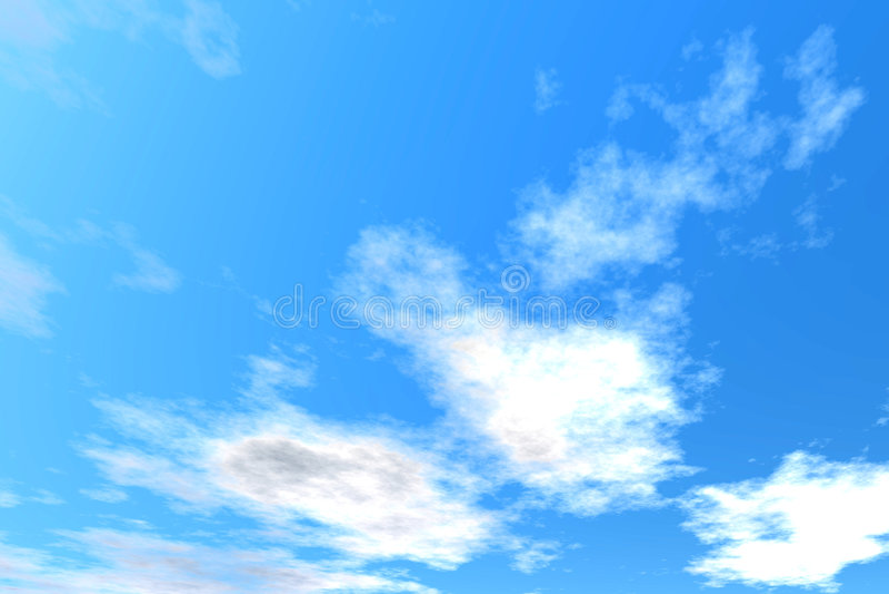 Freier Himmel stock abbildung
