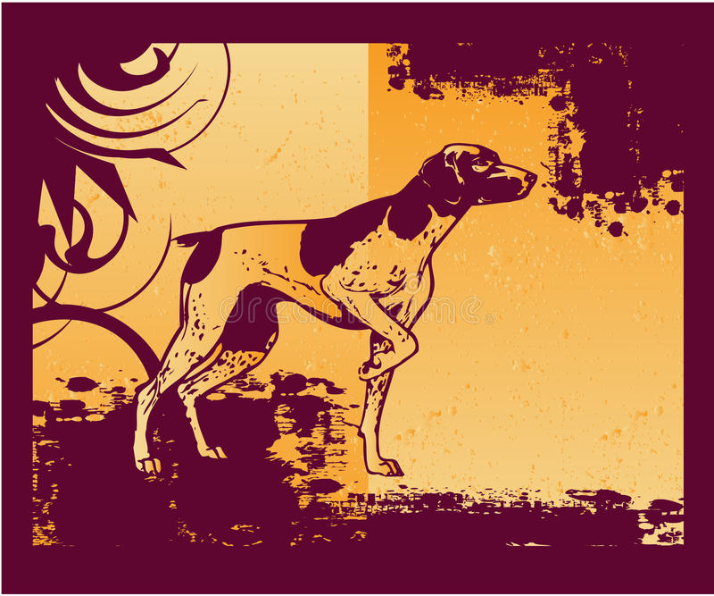 Freier Hund lizenzfreie abbildung