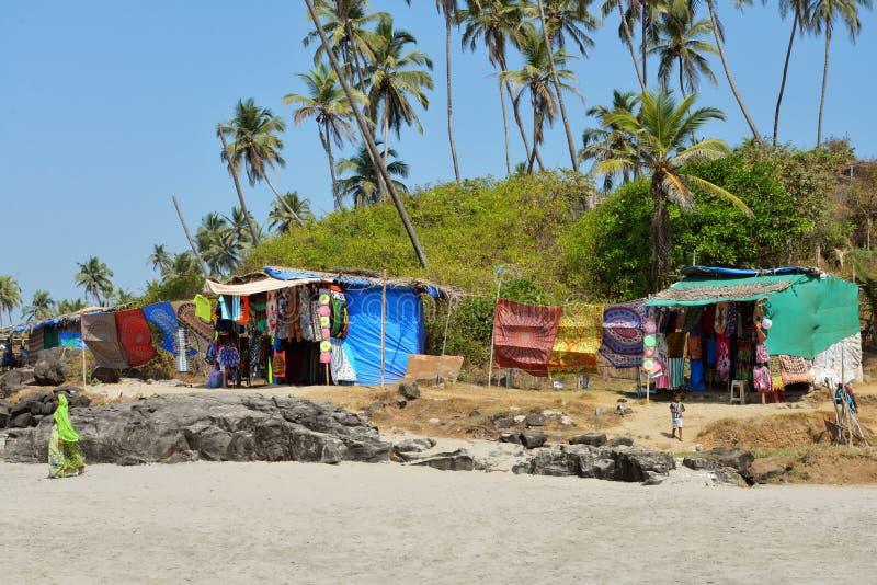 Freier Markt auf Strand stockfoto