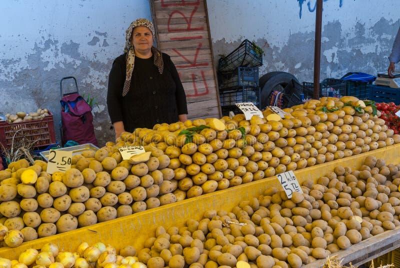 Freier Markt in der Türkei stockbild