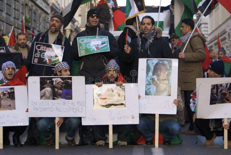 Freier Palästina-Protest lizenzfreies stockbild