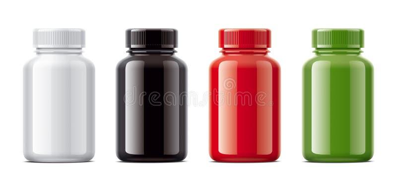 Freier Raum füllt Modelle für Pillen oder andere pharmazeutische Vorbereitungen ab stock abbildung