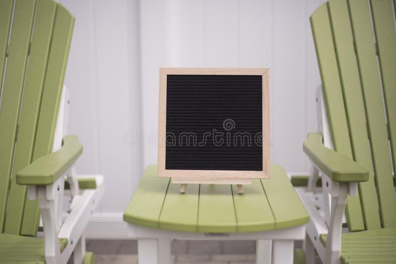 Freier Raum, Schwarzfilzbrett für Zitate lizenzfreies stockbild