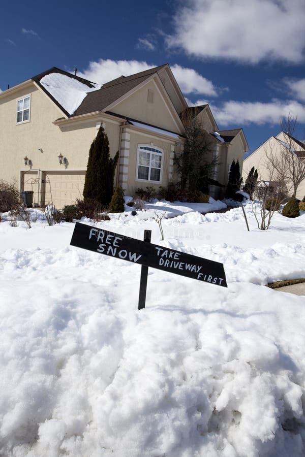 Freier Schnee lizenzfreie stockfotos