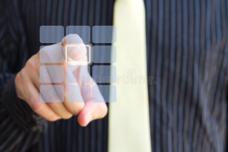 Freier Screentastaturblock und -hand lizenzfreie stockbilder