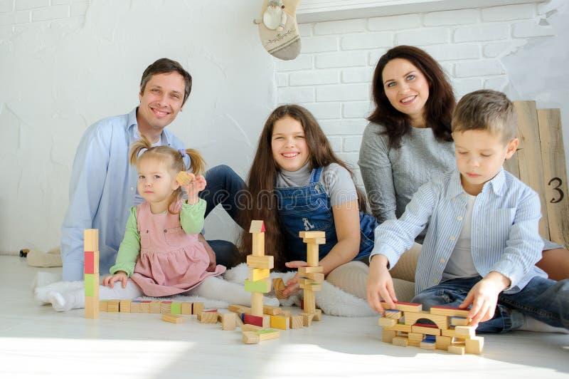 Freier Tag in einer großen Familie lizenzfreie stockfotografie