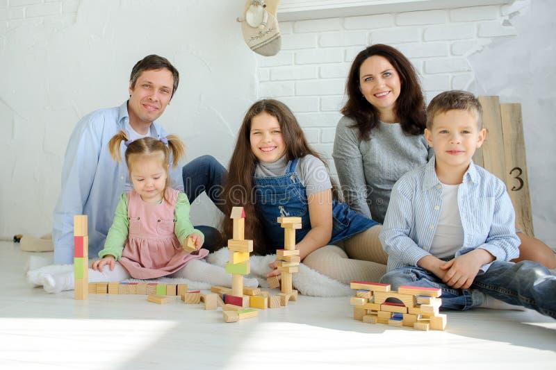 Freier Tag in einer großen Familie stockfotografie
